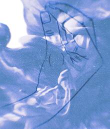 Italian gesture in Blue