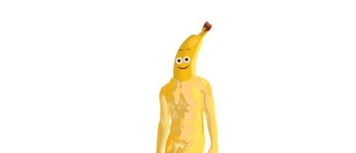 Espressioni di Uomo-Banana Nudo su Pianeta Morto